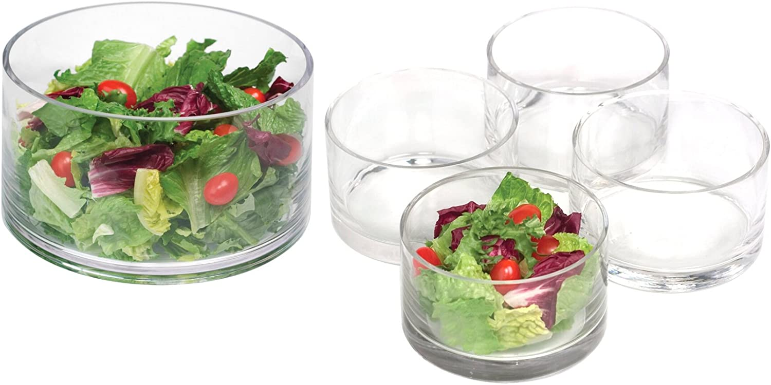 Purchase Artland Simplicity Glass Cylinder Salad 5 Popular products Piece Serving Bowl Set