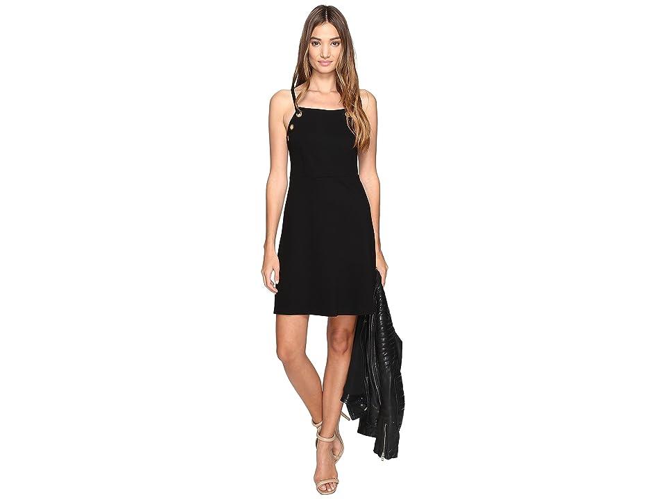 kensie Twill Ponte Dress KS2K7718 (Black) Women