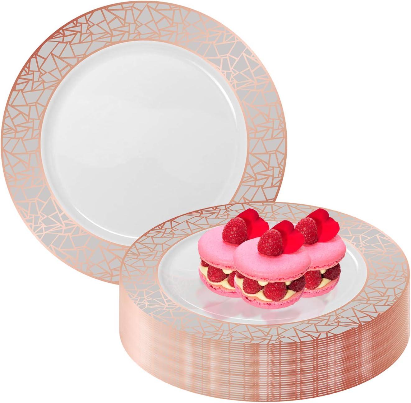 Elegant Disposable Plastic Dessert Plates Tulsa Mall OFFicial mail order 120 - D Pcs Heavy 7.5