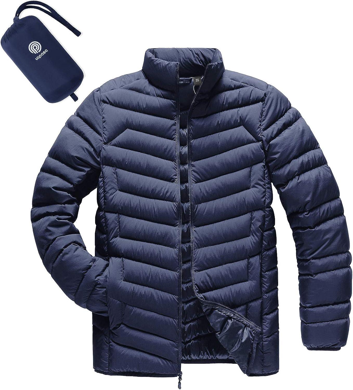 LAPASA Men's Lightweight Packable Down Jacket Breathable Winter Coat Water-Resistant M32