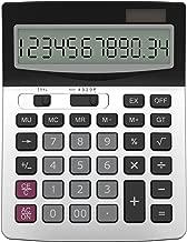 Helect H1006 Calculatrice de Bureau à 12 Chiffres, Fonction Standard d'affaires Calculateur de Bureau, Argent