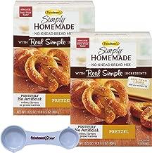 Fleischmann's Simply Homemade Baking Mix Pretzel Creations 16.5 Ounce (Pack of 2) with Fleischmann's Measuring Spoon