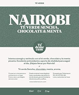 NAIROBI Gourmet 250gr. Té verde sencha, chocolate, menta, aroma.