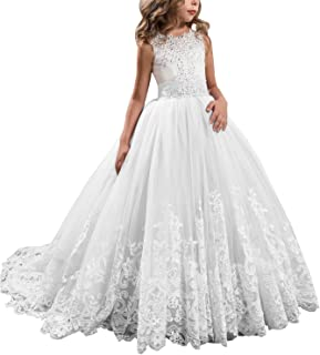 c2ea4e66c4a Aprildress Vintage Lace Flower Girl Dress Pageant First Communion Dresses