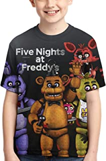 Wakaltk Kids FNAF Five Nights at Freddy's Short Sleeve T Shirts Tee Tops for Boys Girls