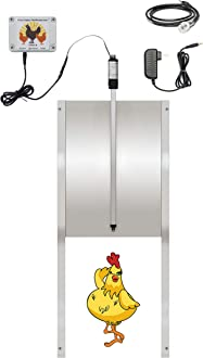 NEW Henhouse Automatic Chicken Coop Door Opener Kit for Poultry Coops Cages