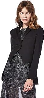 Bee U by Joelle Behlock women's tuxedo dubetti jacket, black, 38 EU (Manufacturer Size:Medium)