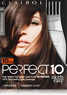 Clairol Perfect 10 By Nice 'N Easy Hair Color 005a Medium Ash Brown 1 Kit, 1.000-Kit (Pack of 2)