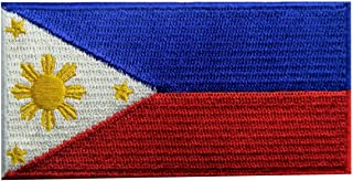 Philippines Flag Embroidered Patch Filipino Iron On Sew On National Emblem
