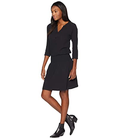 Prana Sugar Pine Dress (Solid Black) Women