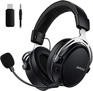 Mpow Air I Wireless Gaming Headset - PS4 Headset with Double Chamber Drivers Detachable Noise Cancelling Microphone Memory...