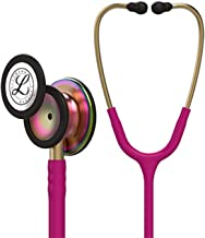 3M Littmann Classic III Monitoring Stethoscope, Rainbow-Finish, Raspberry Tube, 27 inch, 5806