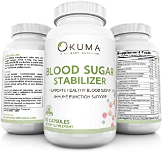 Blood Sugar Stabilizer - Promotes Healthy Insulin Levels | Helps Eliminate Energy Crashes | Reduces Brain Fog and sluggish...