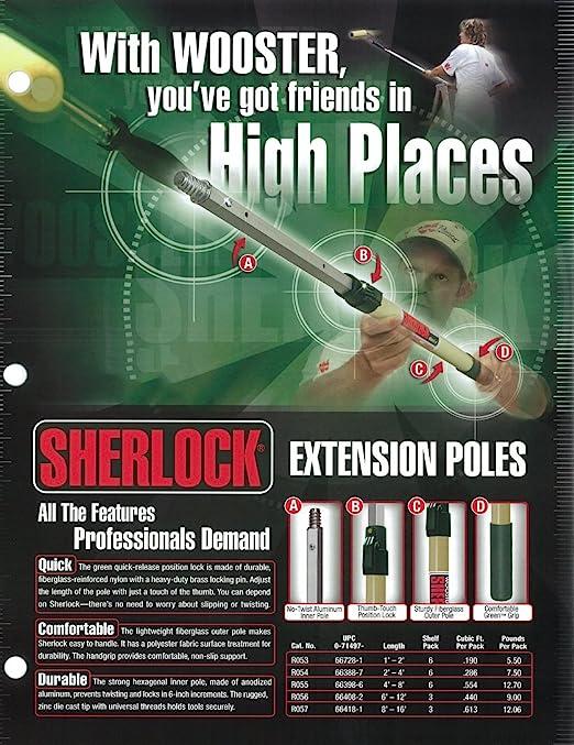 Wooster Brush SR092 Sherlock GT Convertible Extension Pole 6-12 feet Renewed