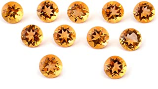 eGemCart Natural Citrino 8mm de Forma Redondo Facetas Cortar la Piedra Preciosa Floja para la fabricación de Joyas   Calid...