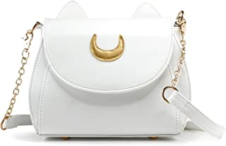 Oct17 Moon Luna Purse Kitty Cat satchel shoulder Bag Designer Women Handbag Tote PU Leather Sailor School