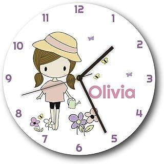 Sungwon 12 inch Personalized Kids Wall Clock, Kids Wall...