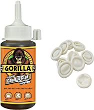 Gorilla Original Gorilla Glue, 4 oz., Brown With 10 Disposable Latex Finger Cots Rubber Fingertips