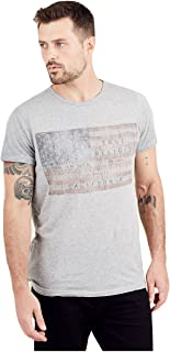 True Religion Men's American Flag T-Shirt in High Rise