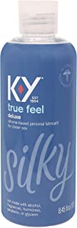 Sex Lube for Women, K-Y True Feel Deluxe Silicone Personal Lubricant for Sex, Safe to Use..
