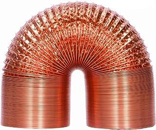 HG Power 125mm 5m Alu-Folienschlauch Aluminiumfolien hitzebeständige Flexible Lüftungsschläuche Schallgedämmter Wärmeisolierung Aluflexrohr Abluft Schlauch Kupfer