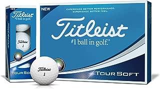 Titleist(タイトリスト)日本正規品 TOUR SOFT(ツアーソフト) ゴルフボール 2018モデル 1ダース(12個入)