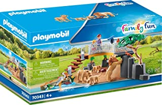 Playmobil Outdoor Lion Enclosure, Multicoloured, 34.8 x 12.0 x 18.7 cm