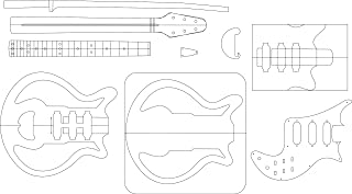 Electric Guitar Routing Template - Red Special