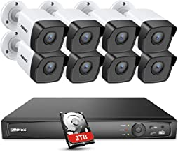 ANNKE 5MP POE Security Camera System, 16CH Upgraded H.265+ 4K NVR, Color Night Vision, IP67 Weatherproof IP Cam 3TB HDD, Used Indoors and Outdoors, 24/7 Recording for Home Business Surveillance
