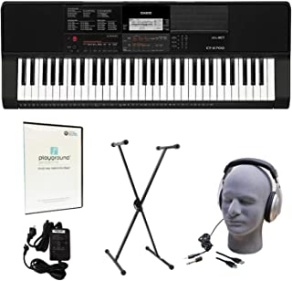 Casio CT-X700 Learn-To-Play Quincy Jones Keyboard Pack with Playground Sessions Trial, Power Supply, Stand, Headphones, and USB Cable