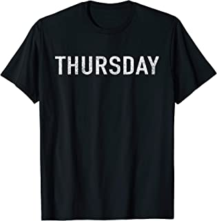 DAYS of the WEEK tshirt series 'THURSDAY' distressed