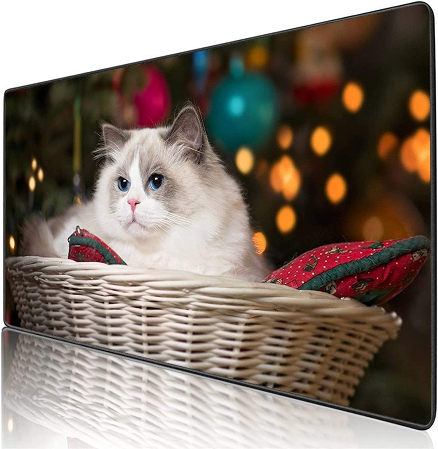 Cute Cat Mouse Pad Computer Game Accessories Notebook Office Keyboard Animal Mouse Pad Computer Mouse pad (Color : 400X900X2MM)