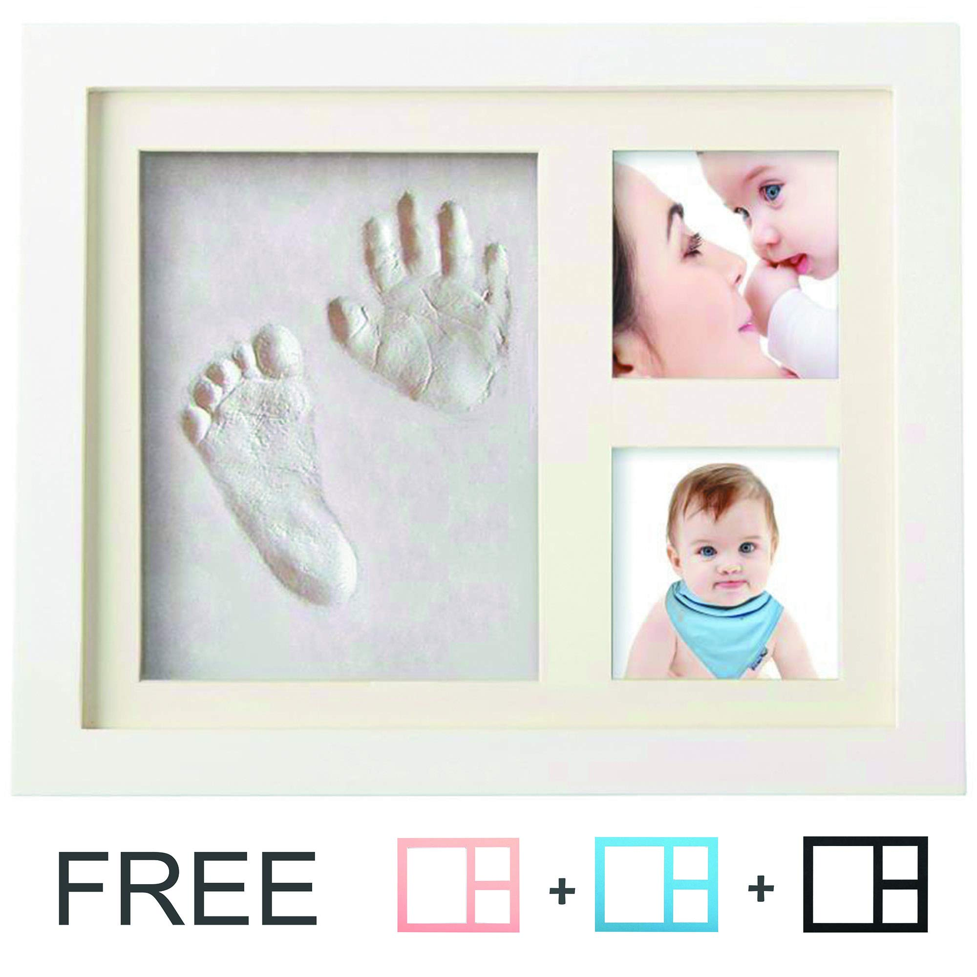 Baby Photo Album for Shower Baby Shower Gifts Home/&Me Baby Handprint Kit Footprint 5x7 New born Baby Shower Gifts Photo Frame for Newborn Girls and Boys