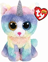 Claire's Ty Beanies Girl's Ty Beanie Boo Large Heather The Unicorn Cat Plush Toy