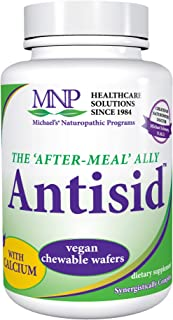 Michael's Naturopathic Programs Antisid - 60 Chewable Vegan Wafers - The After Meal Ally, Contains Calcium, Marshmallow Ro...
