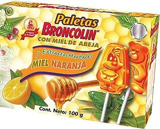 Broncolin Broncolin paleta miel naranja caja 10 pz, Pack of 1