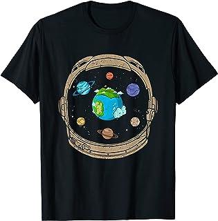 Astronaute Planète Espace Univers Astronomie Science Spatial T-Shirt