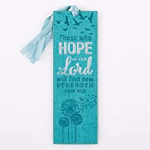 Hope in The Lord Teal Blue LuxLeather PageMarker/Bookmark - Isaiah 40:31