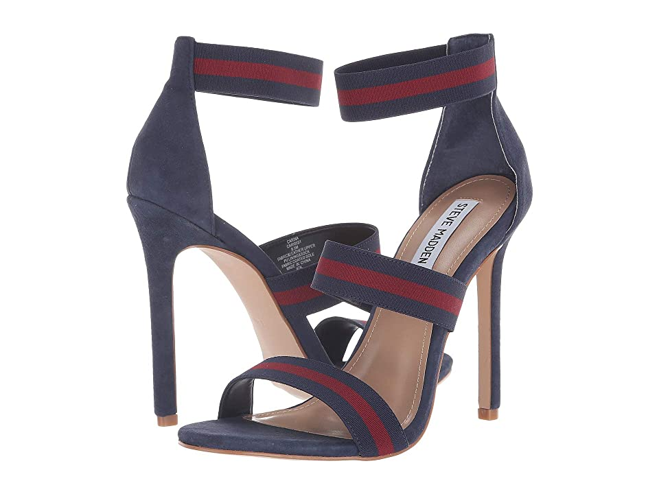 Steve Madden Carina Dress Sandal (Navy/Burgundy) Women