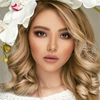 K'ryssma Blonde Bob Wig Ombre Synthetic Wigs with Dark Roots Blonde Ombre Short Wavy Wig for Women Heat Friendly