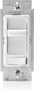 Leviton 6674-P0W SureSlide Universal 150-Watt LED and CFL/600-Watt Incandescent Dimmer, White