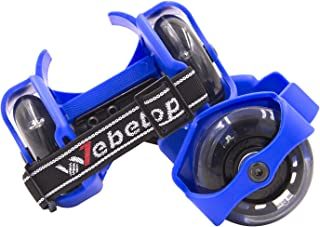 Webetop Kids Lighted Heel Skate Rollers Adjustable Two Wheels Skate Shoes Scooters,One Size Fits Most,60KG Weight Limited,with Portable Bag and Mini Wrench for Adjusting Size