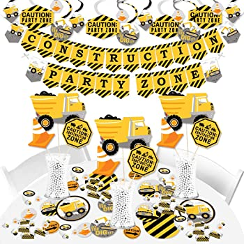 Banner Decoration Kit Fundle Bundle Big Dot of Happiness Bam Superhero Baby Shower or Birthday Party Supplies