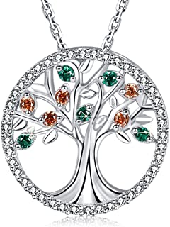 MEGA CREATIVE JEWELRY Family Tree of Life 925 Sterling Silver Pendant Necklace Earrings Crystal from Swarovski