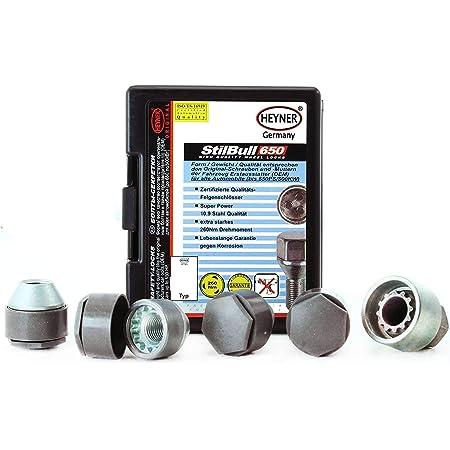12x1.5 Nuts for Opel Speedster 00-05 Wheel Bolts /& Locks 12+4