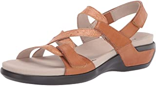 Aravon womens Power Comfort S Strap Sandal Tan Multi 7