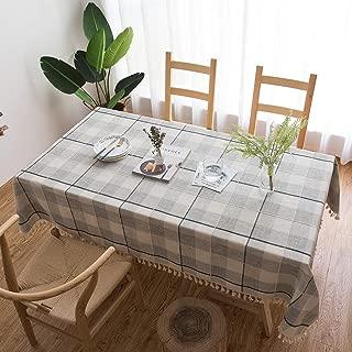 MoMA Checkered Light Grey Tablecloth (55