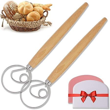 9/'/' 13/'/' The Danish Dough Whisk Stainless Steel Dutch Whisk Hand Mixer Kitchen U