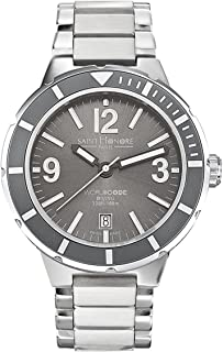 Saint Honore Men's 861501 1GBN Worldcode Paris Brushed and Polished Stainless Steel Diving Date Watch