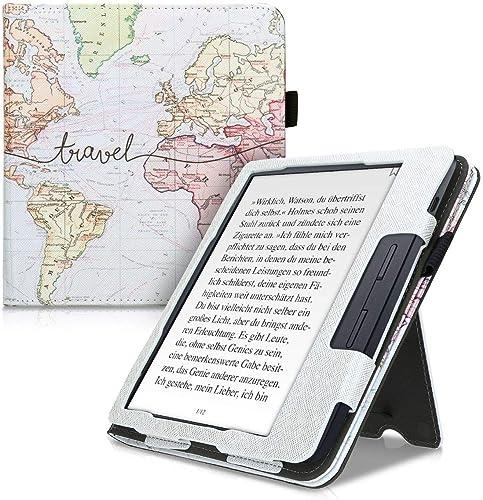 kwmobile Étui pour liseuse électronique Compatible avec Kobo Libra H2O - Étui Housse Protection Noir-Multicolore